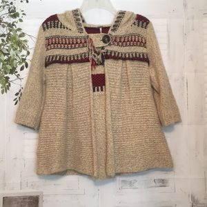 Free People hooded sweater jacket sz Small
